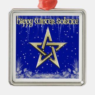 Happy Winter Solstice Christmas Ornament