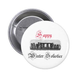 Happy Winter Solstice Stonehenge 6 Cm Round Badge