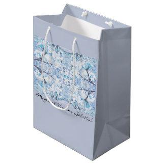 Happy Winter Solstice Yule Snow Medium Gift Bag