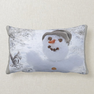 happy winter time lumbar cushion