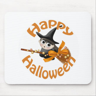 Happy Witch Mouse Pads