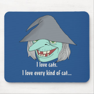 Happy Witch Mouse Pad