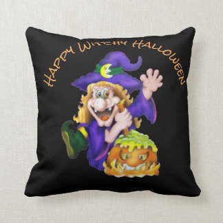Happy Witchy Halloween Cushion