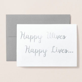 Happy Wives, Happy Lives Card   Lesbian Wedding