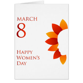 Happy womens day march 8 card