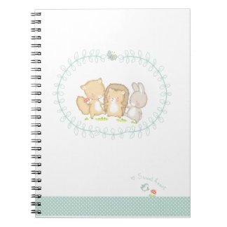 Happy Woodlands Friends Note Books