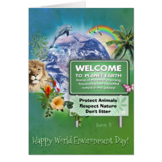 Happy World Environment Day Card