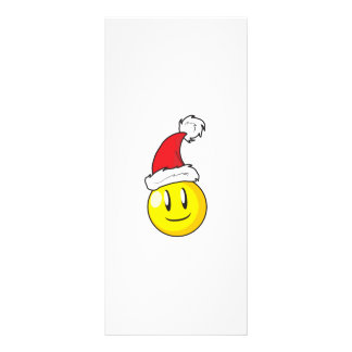 Happy Yellow Billiard Ball Christmas Red Santa Hat Custom Rack Cards