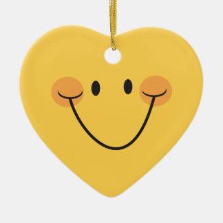 Happy yellow heart ornament