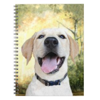 Happy Yellow Lab Notebooks
