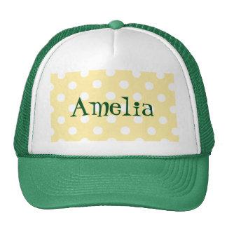 Happy ,yellow,polka dot,white,girly,country,chic trucker hat