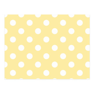 Happy ,yellow,polka dot,white,girly,country,chic postcard