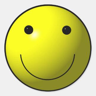 Happy Yellow Smiley Round Sticker