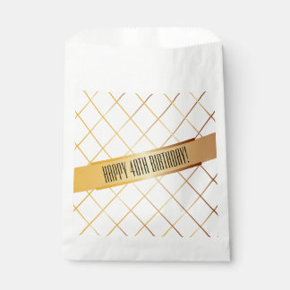 Happy (your age) Birthday | Favor Bag