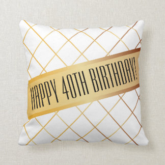 Happy (your age) Birthday | Throw Pillow