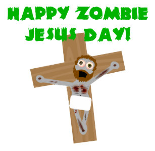 Atheist easter gifts gift ideas zazzle uk happy zombie jesus day christmas card negle Choice Image