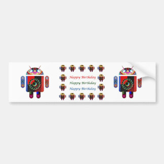 HappyBirthday ANDROID Happy Birthday Bumper Sticker