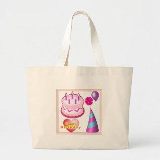 HappyBIRTHDAY Cake Balloon Decorations Canvas Bags