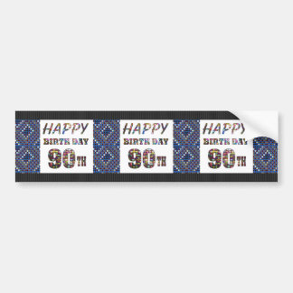 happybirthday happy birthday greeting 90 90th bumper sticker