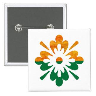 HappyDance Flower : Enjoy n Share the Joy 15 Cm Square Badge