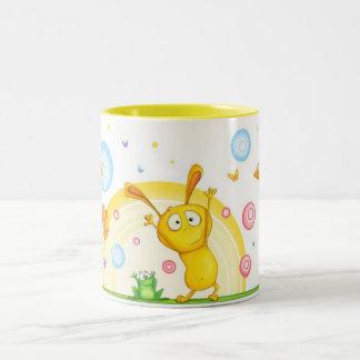 HappyOrangeMug Two-Tone Coffee Mug