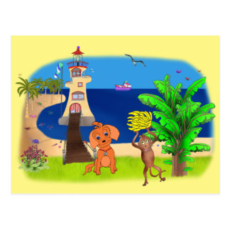 Happy's Lighthouse by The Happy Juul Company Postcard