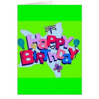 hapy birthday greeting card
