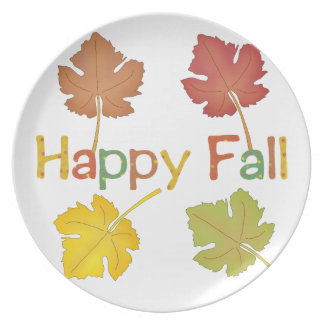 Hapy Fall Leaves Dinner Plates