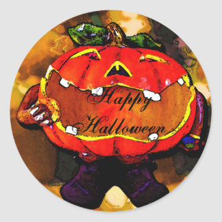 Hapy Halloween Classic Round Sticker