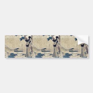 Hara  by Katsushika, Hokusai Ukiyoe Bumper Sticker