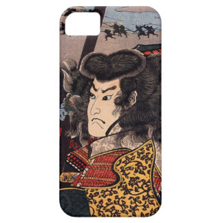 Hara Hayato no Sho holding a spear by Utagawa iPhone 5 Cover