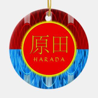Harada Monogram Fire & Ice Round Ceramic Decoration