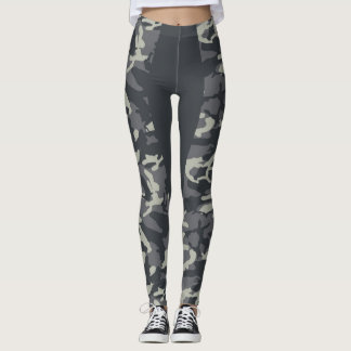 HARAENA CAMO LONG STRIPE LEGGINGS
