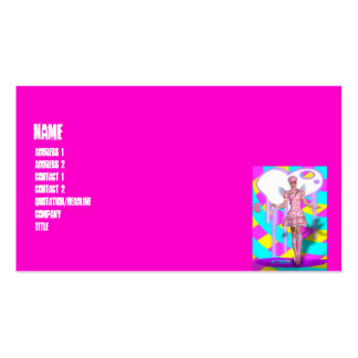 Harajuku Girl Lolita Goth Fantasy Business Card Template
