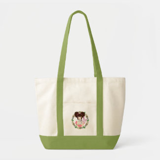Harajuku Girl Yuriko - bordered Impulse Tote Bag