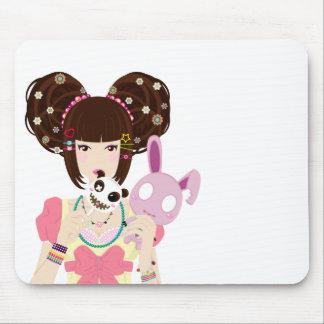 Harajuku Girl Yuriko Mouse Pad