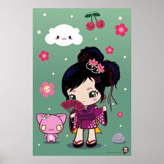 Harajuku Wamono Girl Ayaka Poster