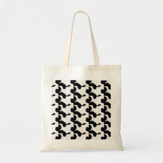 harako handle hound's-tooth check wind totobatsugu budget tote bag
