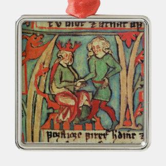Harald I Fairhair greeting Guthrum 'Flateybok' Christmas Ornament