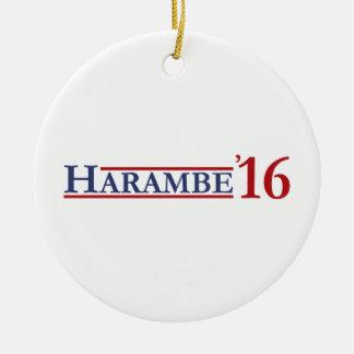 Harambe 16 christmas ornament