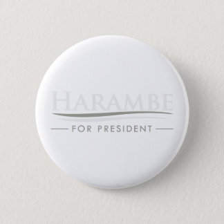 Harambe For President 6 Cm Round Badge