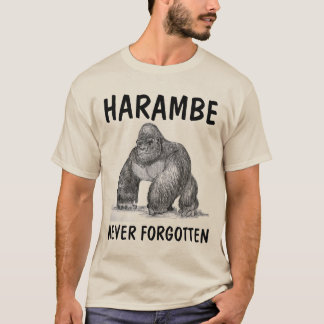 HARAMBE GORILLA, T-shirts and sweatshirts