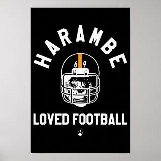 Harambe Loved Football Poster