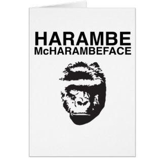 Harambe McHarambeface Card