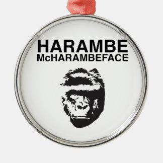 Harambe McHarambeface Christmas Ornament