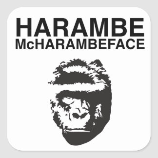 Harambe McHarambeface Square Sticker
