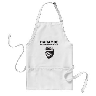 Harambe McHarambeface Standard Apron