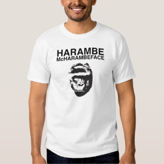 Harambe McHarambeface T-shirts