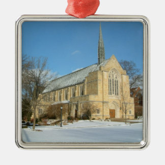Harbison Chapel in Winter at Grove City College Christmas Ornament