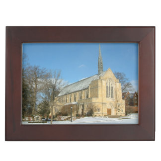 Harbison Chapel in Winter at Grove City College Keepsake Box